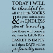 Belvedere Designs LLC Quotes  Today I Will be Thankful Wall Decal