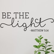 Belvedere Designs LLC Quotes  Be the Light Wall Decal