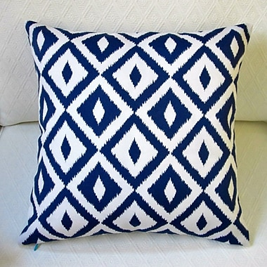 Artisan Pillows Modern Coastal Geometric Indoor/Outdoor Pillow Cover (Set of 2); Blue