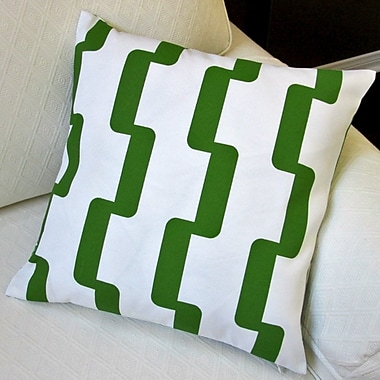 Artisan Pillows Geometric Stripe Indoor/Outdoor Pillow Cover (Set of 2); Green