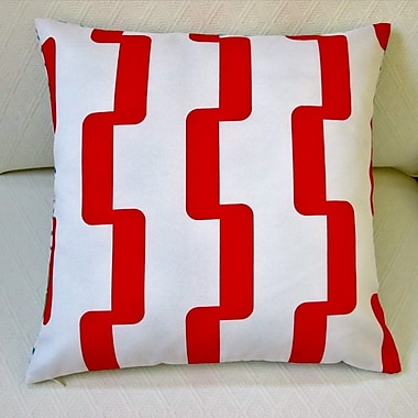 Artisan Pillows Geometric Stripe Indoor/Outdoor Pillow Cover (Set of 2); Red