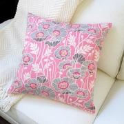 Artisan Pillows Pristine Poppy Cotton Pillow Cover; Pink