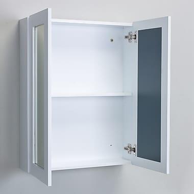 Eviva Tux 24'' x 30'' Surface Mount Flat Medicine Cabinet; White