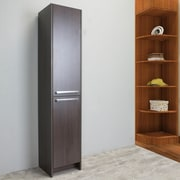 Orren Ellis Zuzanna 16'' W x 75'' H Linen Tower; Gray Oak