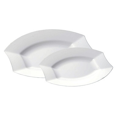 Table to go Vogue 2 Piece 'I Can't Believe It's Plastic' Dinner and Salad Plate Set (Set of 25)