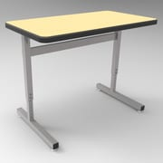 WB Manufacturing Une-T Laminate Adjustable Height Collaborative Desk