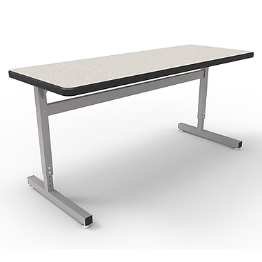 WB Manufacturing Une-T 2 Laminate Adjustable Height Collaborative Desk