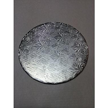 Enjay – Carton pour gâteau avec relief argent 1/4, cercle de 10 po