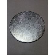 "Enjay 1/4 Silver Embossed Cakeboard, 10"" Round"