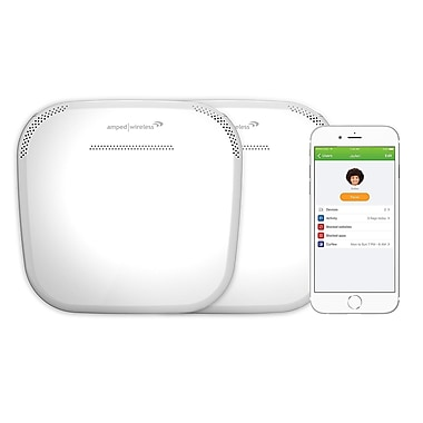 Amped - Système Whole Home WiFi intelligent ALLY-0091K Plus sans fil, AC1900
