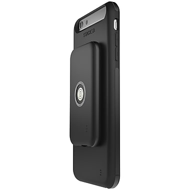 STACKED - Ensemble avec étui Speed pour iPhone 6 Plus/6s Plus, noir/noir (SPD6P001)