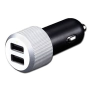 Just Mobile Dual USB Highway Car Charger Micro USB 2A, Silver (CC168S)