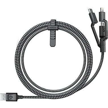 Nomad - Câble universel Ultra robuste Micro USB/USB Type-C/Lightning (Micro USB/USB C)