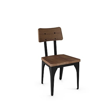 Amisco – Chaise Woodland en métal avec siège et dossier en bois vieilli (31269-WE/2B2587), 2/paquet