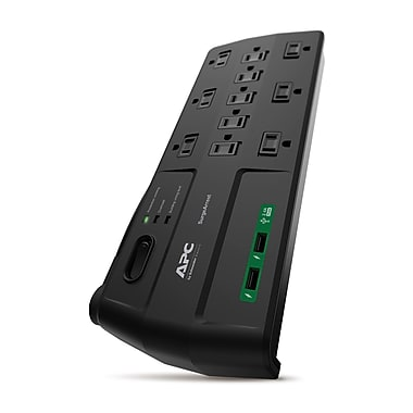 APC SurgeArrest 2880 Joule Surge Protector with USB Ports, 11-Outlet, 8 ft, Black (P11U2)