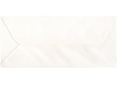 JAM Paper® #11 Business Commercial Envelopes with Wallet Flap, 4 1/2 x 10 3/8, 4 1/2 x 10 3/8, White, 1000/carton (516312647B)