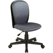 Chintaly Mid-Back Desk Chair; Grey