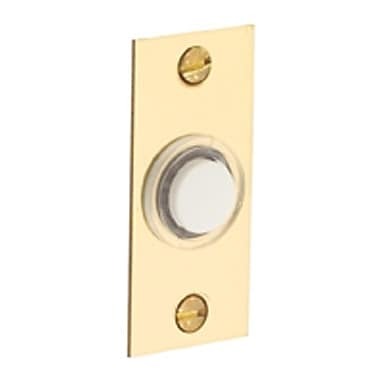 Baldwin Rectangular Doorbell Button; Oil Rubbed Bronze