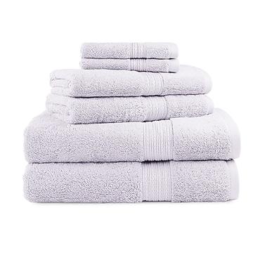 Luxor Linens Bliss Egyptian Quality Cotton Luxury 6 Piece Towel Set; Wisteria