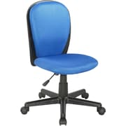 Chintaly Mid-Back Desk Chair; Blue
