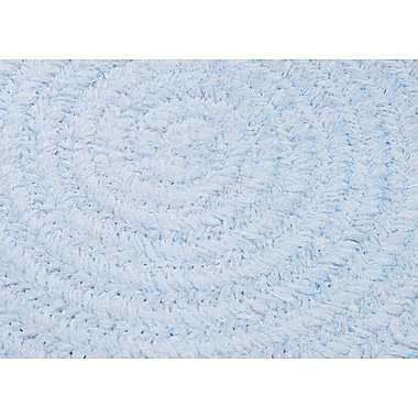 Colonial Mills Spring Meadow Sky Blue Area Rug; Oval 7' x 9'