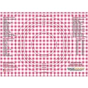 Magic Slice Gingham Dough Non-Slip Flexible Pastry Mat; Red