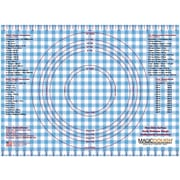 Magic Slice Gingham Dough Non-Slip Flexible Pastry Mat; Blue