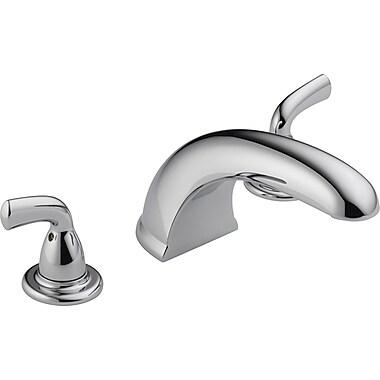 Delta Foundations Double Handle Deck Mount Roman Tub Faucet Trim; Chrome