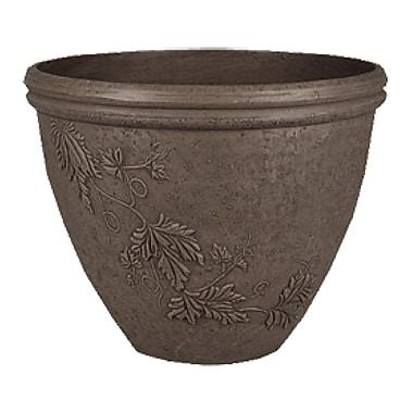 Arcadia Garden Products PSW Composite Pot Planter w/ Saucer; Dark Charcoal