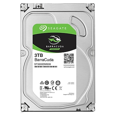 Seagate BarraCuda 3 TB Desktop Internal Hard Drive, SATA, 6GB/s, 3.5