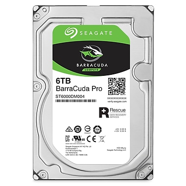 Seagate BarraCuda Pro 6 TB Desktop Internal Hard Drive, SATA, 6GB/s, 3.5