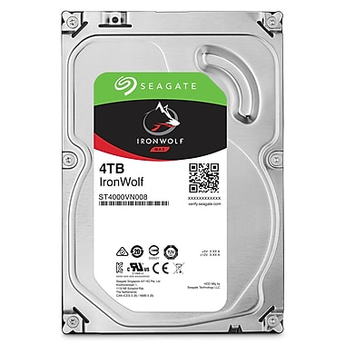 Seagate IronWolf 4 TB NAS Internal Hard Drive, SATA, 6GB/s, 3.5