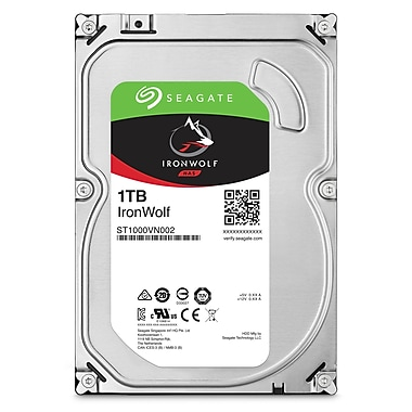 Seagate – Disque dur interne NAS IronWolf de 1 To, SATA, 6 Gbit/s, 3,5 po (ST1000VN002)