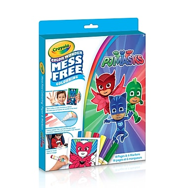 Crayola – Trousse de coloriage Colour Wonder, Les Pyjamasques, paq./18