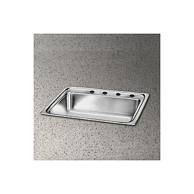 Elkay Pacemaker 22'' x 22'' Single Bowl Kitchen Sink; 4 Holes
