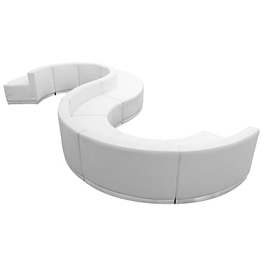 Flash Furniture Alon Series ZB803420SWH LeatherSoft Reception Set, 9-Piece, White