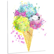 DesignArt 'Cute Colorful Puppy Dog' Painting Print on Metal; 28'' H x 12'' W x 1'' D