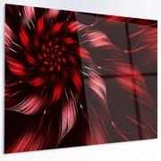 DesignArt 'Multicolor Symmetrical Fractal Flower' Graphic Art on Metal; 12'' H x 28'' W x 1'' D