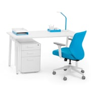 "Poppin Single Desk, 47"" x 27"" x 29"", Modern, White (102154)"