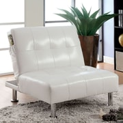 A&J Homes Studio Bulle Convertible Chair; White