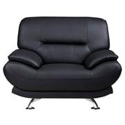 AmericanEagleInternationalTrading Arcadia Arm Chair; Black
