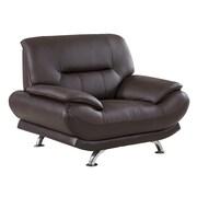 AmericanEagleInternationalTrading Arcadia Arm Chair; Dark Chocolate