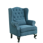 A&J Homes Studio Willow Wingback Chair; Blue
