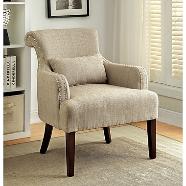 A&J Homes Studio Agalva Arm Chair; Beige