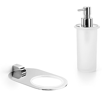 WS Bath Collections Muci Soap Dispenser; Polished Chrome / Frosted Glass