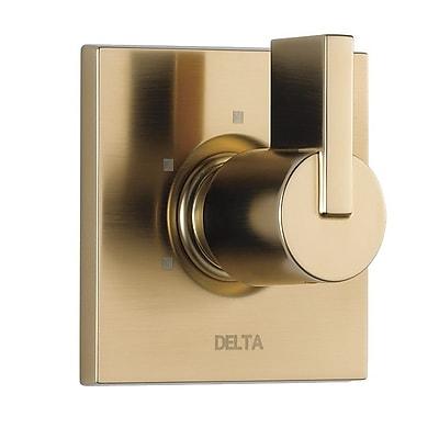 Delta Vero Diverter Faucet Trim w/ Lever Handles; Brilliance Champagne Bronze