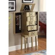 ACME Furniture Tammy Jewelry Armoire w/ Mirror; Gold