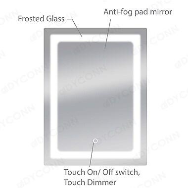 Dyconn Faucet Swan Wall Mirror; 32'' H X 24'' W