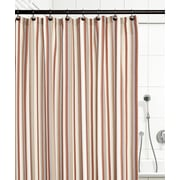 Ellis Curtain Jaden Stripe Shower Curtain; Clay
