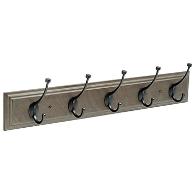 Franklin Brass Rail Wall Mounted Coat Rack; Gray